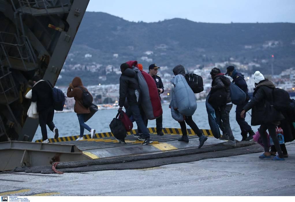 Μυτιλήνη: Μετακίνηση 139 αιτούντων άσυλο από τη Λέσβο, προς Βόρεια Ελλάδα