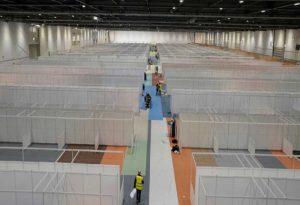 Κορωνοϊός-Βρετανία: Εκθεσιακό κέντρο μετατρέπεται σε νοσοκομείο για 4.000 ασθενείς