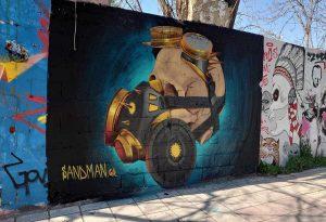 Γκράφιτι για τον κορωνοϊό στη Θεσσαλονίκη