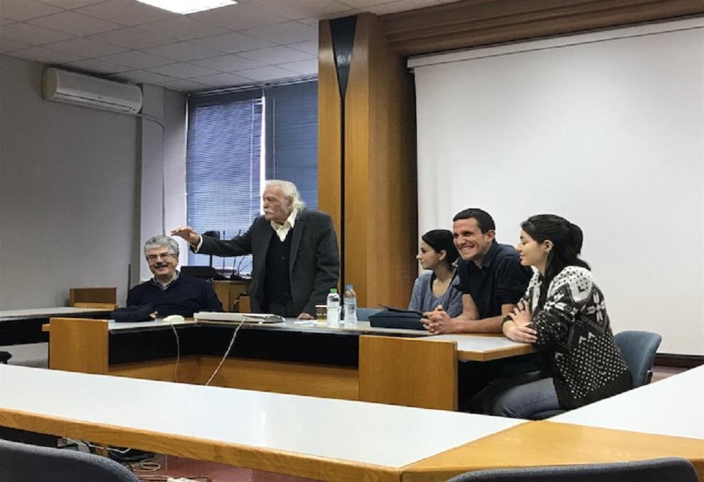 Το ΑΠΘ αποχαιρετά τον Μανώλη Γλέζο
