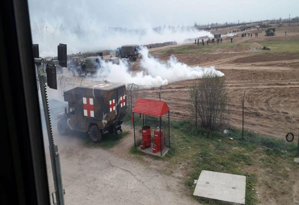 Έβρος: Άγρια επεισόδια και χρήση χημικών (ΦΩΤΟ+VIDEO)