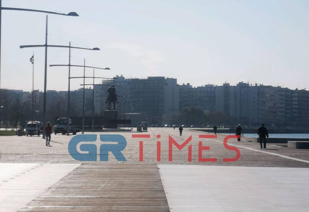 Θεσσαλονίκη: Δείτε την πόλη από τον Λευκό Πύργο τώρα (VIDEO)