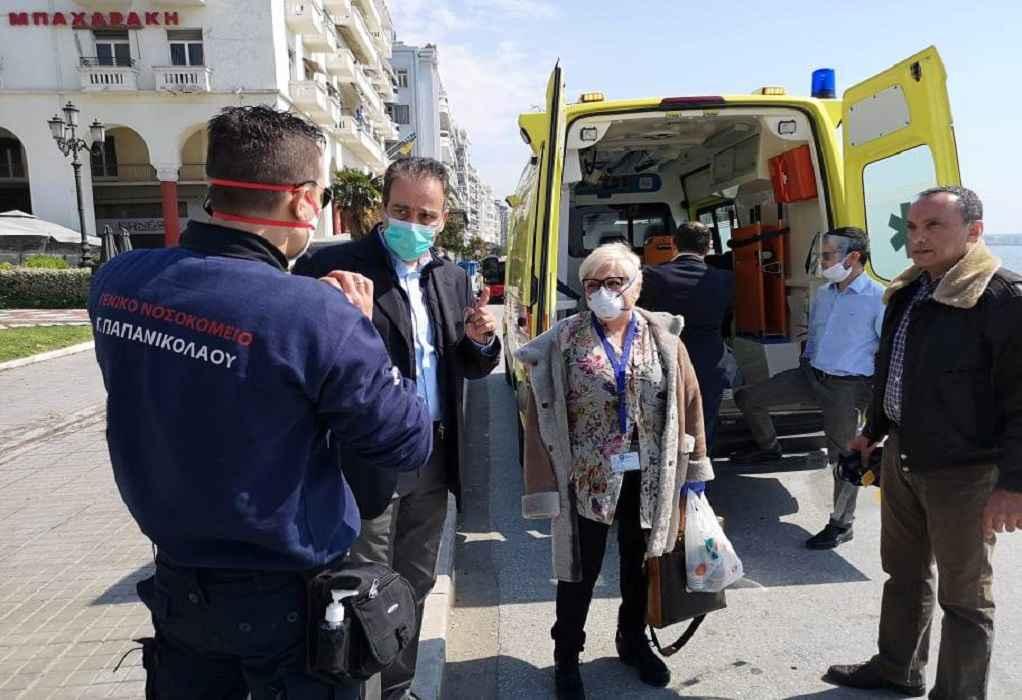 Νοσοκομεία της Θεσσαλονίκης παρέλαβαν προστατευτικό υλικό από τον ΙΣΘ