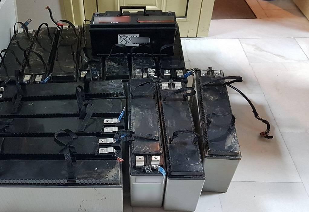 Έκλεψαν μπαταρίες από σταθμό κινητής τηλεφωνίας