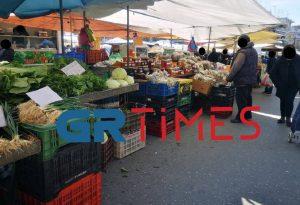 Θεσ/νίκη: Θερμομέτρηση πωλητών στις λαϊκές