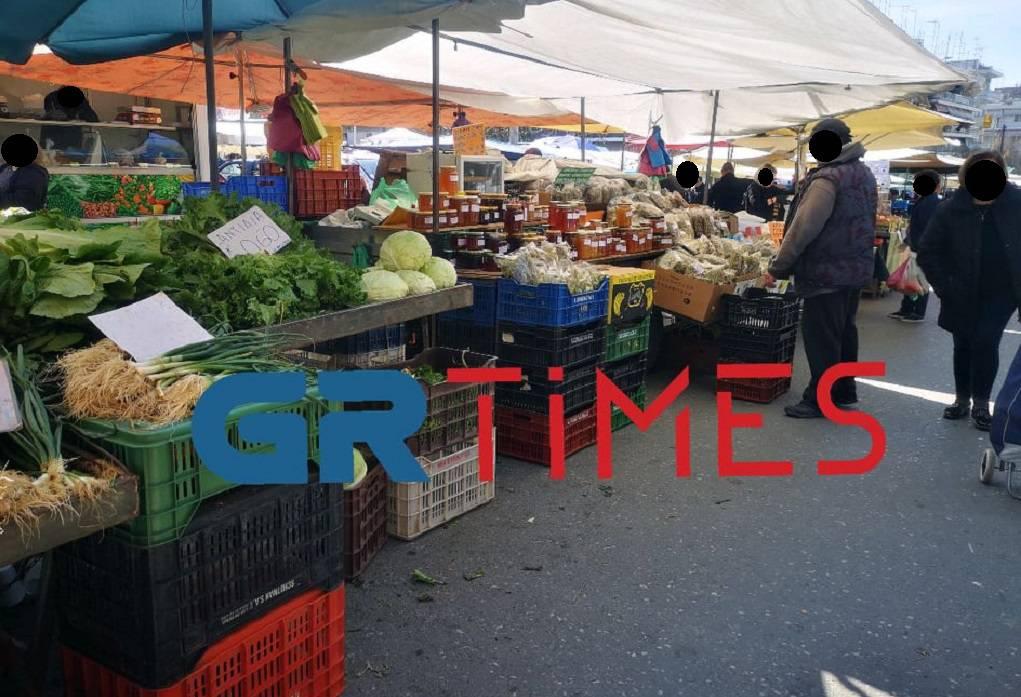 Θεσσαλονίκη: Θερμομετρήσεις σε πωλητές στις λαϊκές αγορές