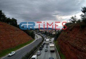 Θεσσαλονίκη: Μποτιλιάρισμα στον περιφερειακό (ΦΩΤΟ)