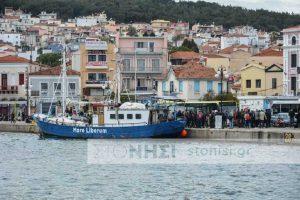 Μυτιλήνη: Κάτοικοι μπλόκαραν το «Mare Liberum» να δέσει στο λιμάνι