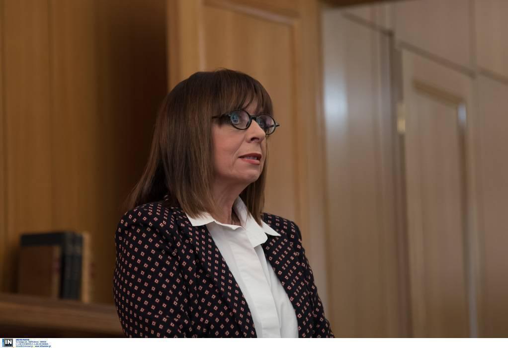 Τηλεδιάσκεψη Κ. Σακελλαροπούλου με πρέσβη των ΗΠΑ