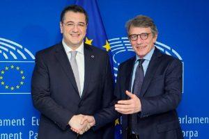 Συνάντηση Τζιτζικώστα με Sassoli στις Βρυξέλλες