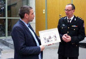 Βράβευση της Πυροσβεστικής Υπηρεσίας Θεσσαλονίκης