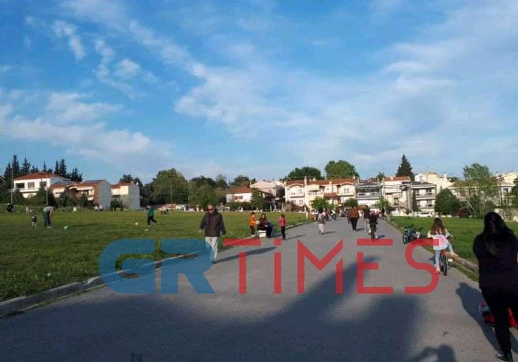 Ωραιόκαστρο: Βγήκαν για γυμναστική στα πάρκα (ΦΩΤΟ-VIDEO)