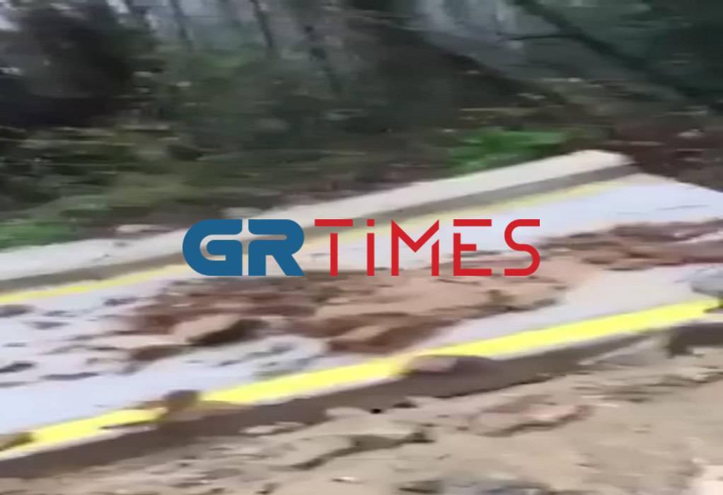 Άγιο Όρος: Έκλεισε δρόμους η κακοκαιρία! (ΦΩΤΟ)