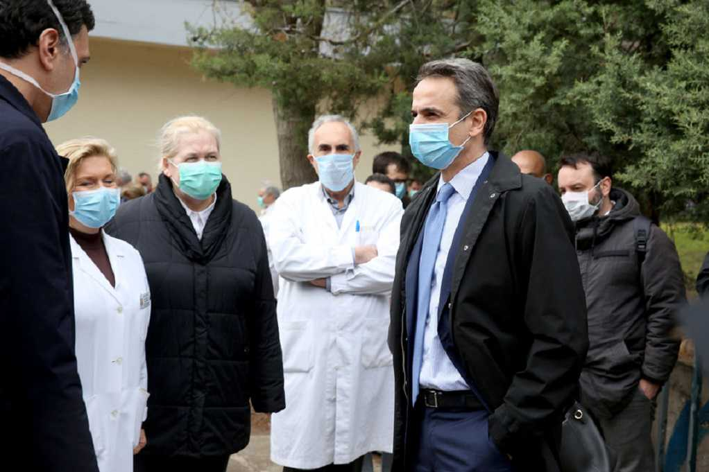 Στο νοσοκομείο Σωτηρία με μάσκα ο Κ. Μητσοτάκης (ΦΩΤΟ)