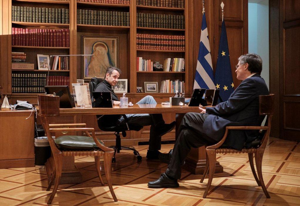 Μητσοτάκης: «Συζητώντας τα επόμενα βήματα με τον Τσιόδρα»
