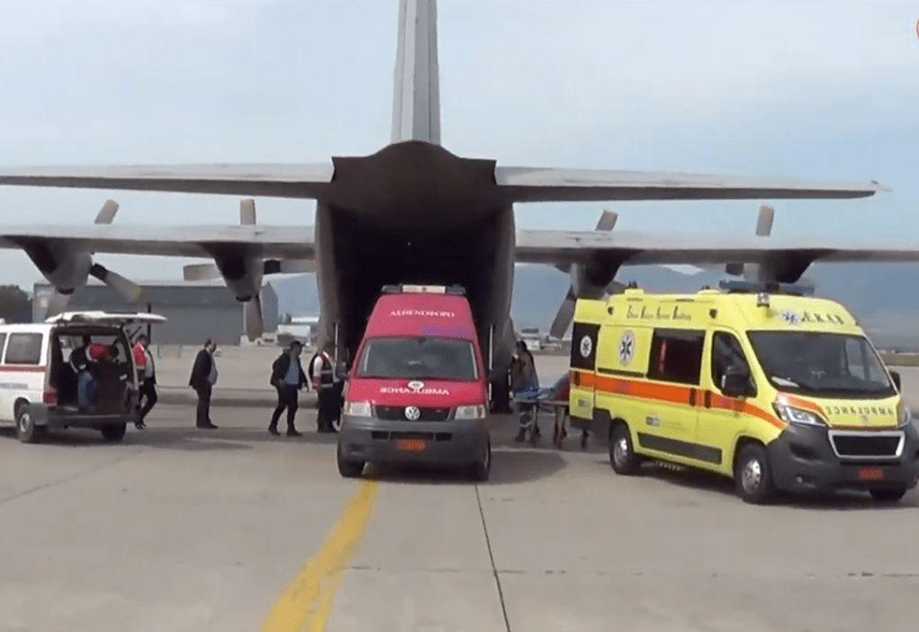 ΕΚΑΒ: Έκτακτη αεροδιακομιδή παρουσία Κοντοζαμάνη (VIDEO)