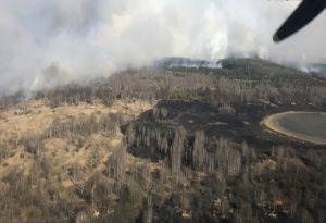 Ουκρανία: Αύξηση ραδιενέργειας από δασική φωτιά κοντά στο Τσερνόμπιλ