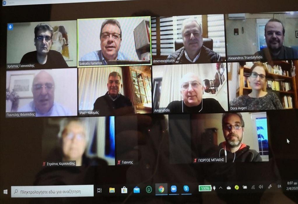 Τηλεδιάσκεψη βουλευτών ΣΥΡΙΖΑ με Εμπορικό Σύλλογο Θεσ/νίκης