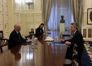 Συνάντηση Δένδια με τον Πρέσβη των ΗΠΑ