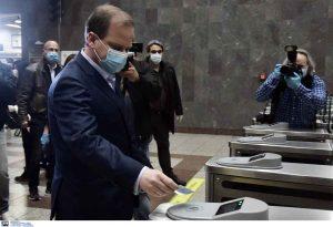 Στο Μετρό Συντάγματος ο Κ. Καραμανλής (ΦΩΤΟ)