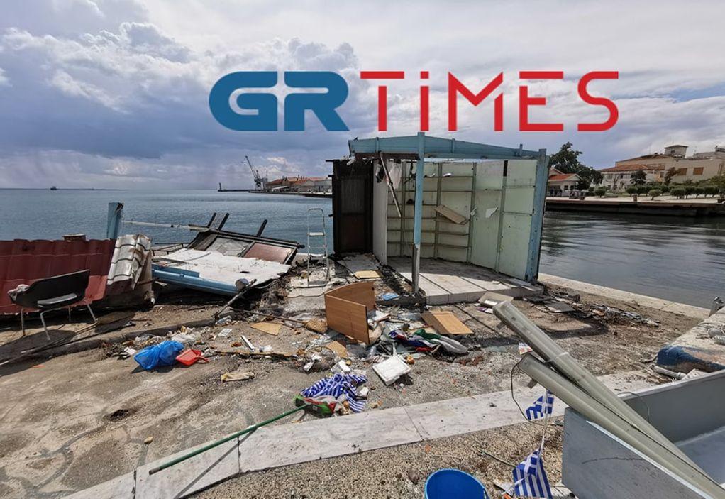 Θεσσαλονίκη: Κατεδαφίζεται το κιόσκι των ψαράδων (ΦΩΤΟ+VIDEO)