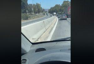 Πήγαινε ανάποδα στη Λεωφ. Αθηνών και τράκαρε! (VIDEO)