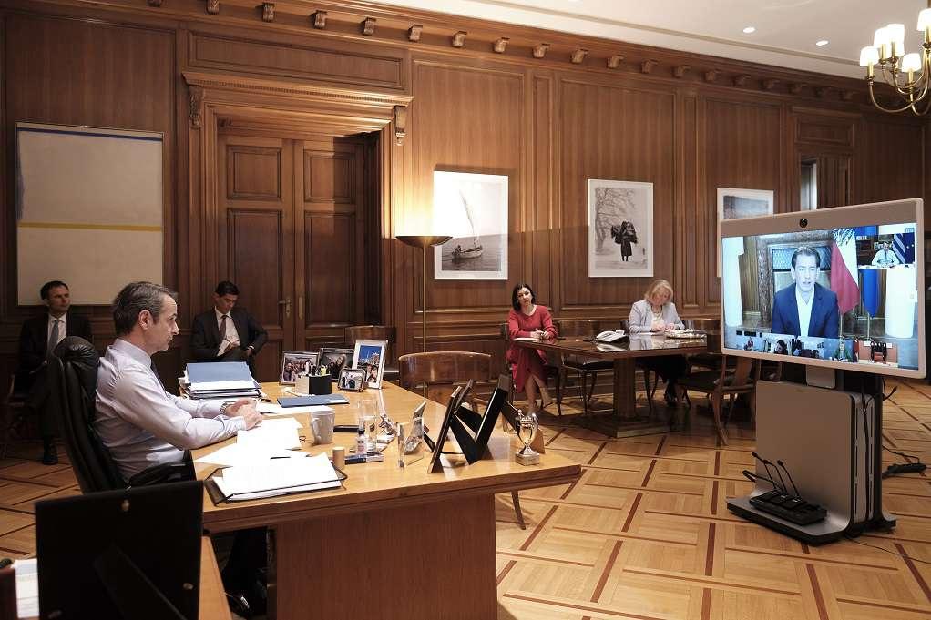 Τηλεδιάσκεψη Μητσοτάκη με ηγέτες 7 χωρών – Τι συζητήθηκε