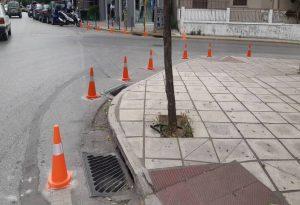 Επέκταση πεζοδρομίων στον Δήμο Κορδελιού Ευόσμου