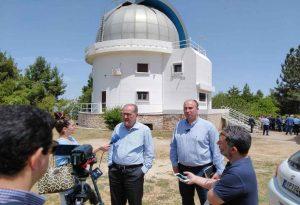 Στο αστεροσκοπείο Κρυονερίου Κορινθίας ο Περιφ. Πελοποννήσου