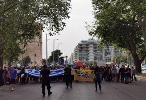 Πορεία εθνικιστών στη Θεσσαλονίκη (ΦΩΤΟ-VIDEO)