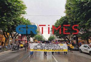 Θεσ/νίκη: Πορεία εργαζομένων στον χώρο της Τέχνης (ΦΩΤΟ-ΒΙΝΤΕΟ)