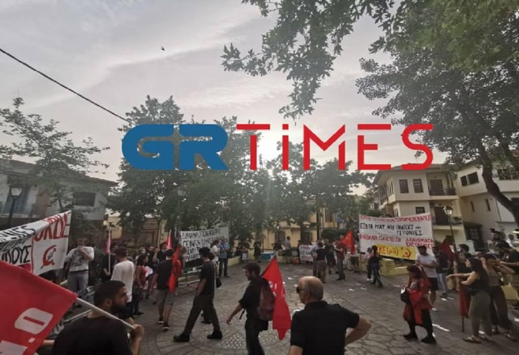 Ολοκληρώθηκε η πορεία για τα επεισόδια στην Άνω Πόλη (ΦΩΤΟ-ΒΙΝΤΕΟ)