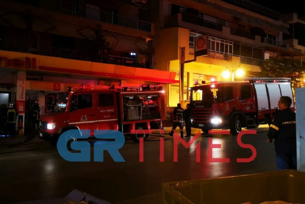 Συναγερμός από πυρκαγιά σε βενζινάδικο (ΦΩΤΟ-VIDEO)