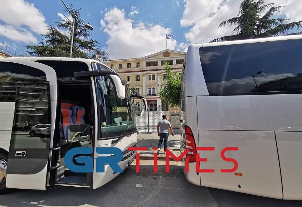 Στο ΥΜΑΘ αντιπροσωπεία των ιδιοκτητών τουριστικών λεωφορείων (ΦΩΤΟ-ΒΙΝΤΕΟ)