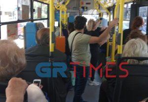 Θεσσαλονίκη: Συνωστισμός σε λεωφορείο του ΟΑΣΘ (ΦΩΤΟ)