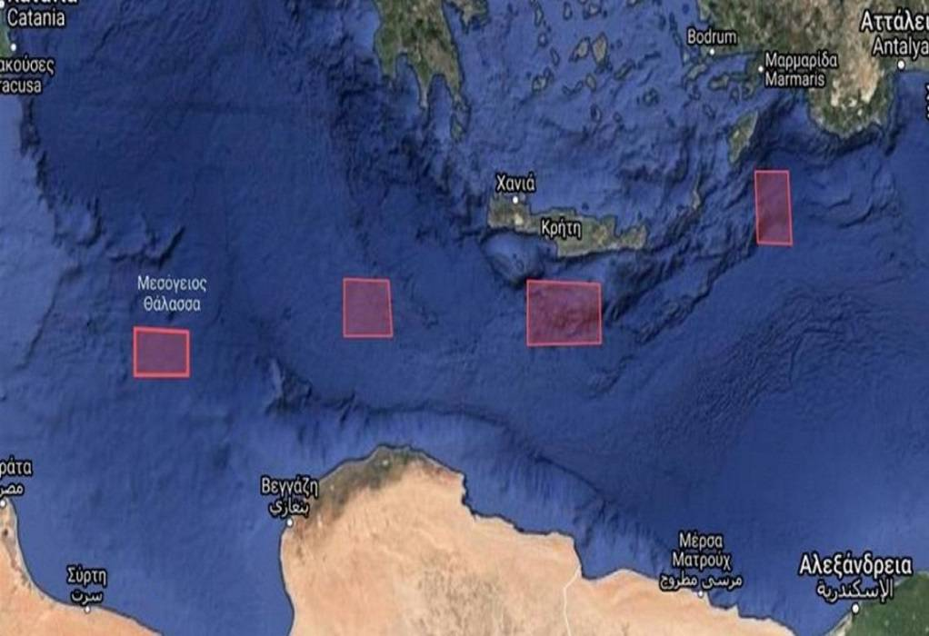 Η Τουρκία εξέδωσε Navtex νότια της Κρήτης