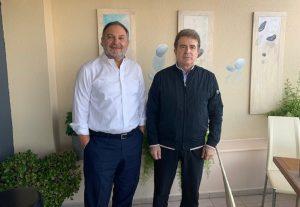 Συνάντηση Χρυσοχοΐδη με τον Γ. Κουράκη της ΠΕΔ Κρήτης