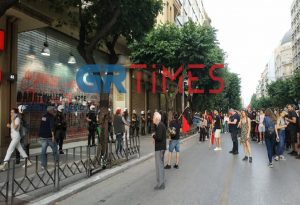 Θεσσαλονίκη: Σε εξέλιξη πορεία για τη δολοφονία Φλόιντ (ΦΩΤΟ)