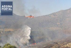 Επιτυχής η κατάσβεση της φωτιάς στην Αίγινα