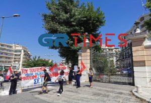 Θεσ/νίκη: Διαμαρτυρία εργαζομένων σε τουρισμό & επισιτισμό (ΦΩΤΟ+VIDEO)