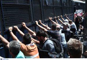 Ένταση στο πανεκπαιδευτικό συλλαλητήριο στην Αθήνα (VIDEO)