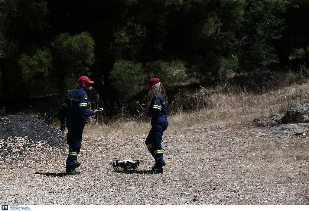 Drone για τον εντοπισμό άντρα στον Υμηττό (ΦΩΤΟ)