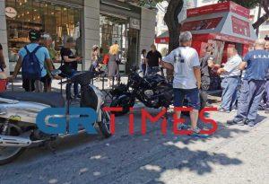 Θεσσαλονίκη: Σύγκρουση ΙΧ με μοτοσικλέτα (ΦΩΤΟ+VIDEO)