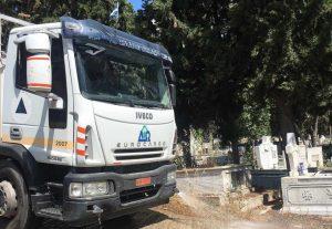 Εκτεταμένη επιχείρηση καθαριότητας στα Κοιμητήρια Ωραιοκάστρου