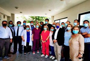 Επίσκεψη Κικίλια στο κέντρο υγείας «Αρχάγγελος»