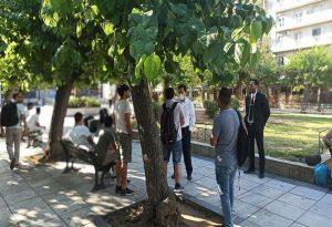 Στην πλατεία Βικτωρίας ο Ν. Μηταράκης (ΦΩΤΟ)