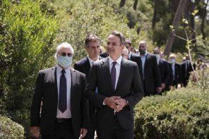 Μητσοτάκης-Ισραήλ: Κατάθεση στεφάνου στο Μνημείο Ολοκαυτώματος