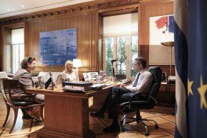 Συνάντηση Μητσοτάκη-Φόνσου για το Σπίτι του Ηθοποιού