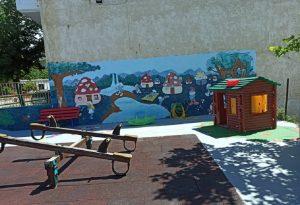 Ωραιόκαστρο: Ανακαίνιση νηπιαγωγείου σε «Στρουμφοχωριό»