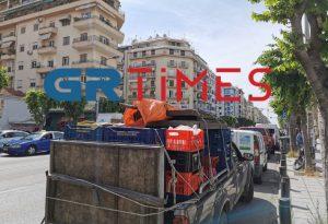 Θεσ/νικη: Διαμαρτυρία πωλητών λαϊκών αγορών (ΦΩΤΟ+VIDEO)